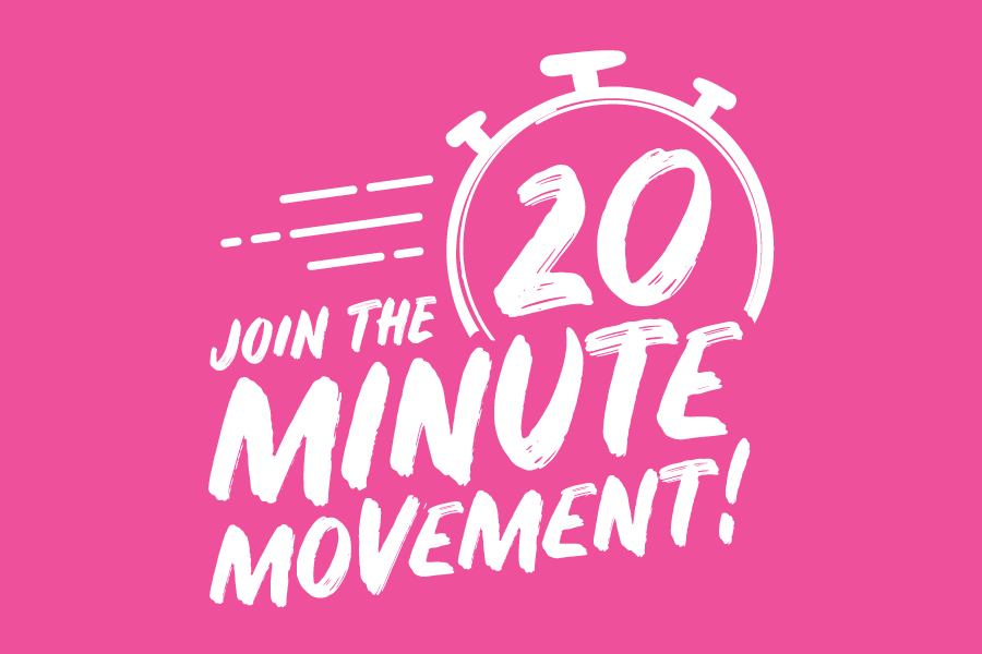 Join the 20 Minute Movement logo